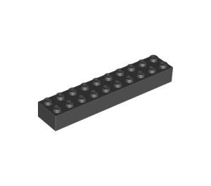 LEGO Black Brick 2 x 10 (3006 / 92538)
