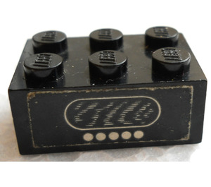 LEGO Black Brick 2 x 3 with Radio with 5 Buttons Sticker