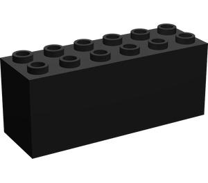LEGO Black Brick 2 x 6 x 2 Weight with Split Bottom (73090)