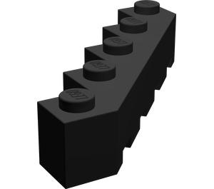 LEGO Black Brick 5 x 5 Facet (6107)