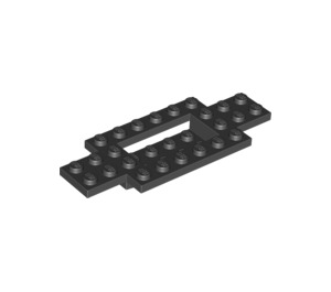 LEGO Black Car Base 10 x 4 x 2/3 with 4 x 2 Centre Well (30029)