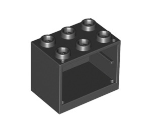 LEGO Black Cupboard 2 x 3 x 2 with Recessed Studs (92410)