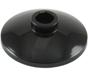 LEGO Black Dish 2 x 2 Ø16 Inverted (4740)