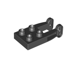 LEGO Black Duplo Plate 2 x 3 with Drum Holder (42026)