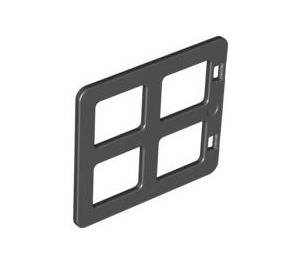 LEGO Black Duplo Window 4 x 3 with Bars with Same Sized Panes (90265)