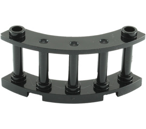 LEGO Black Fence Spindled 4 x 4 x 2 Quarter Round with 2 Studs (30056)