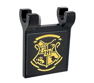 LEGO Black Flag 2 x 2 with Hogwarts Emblem on both sides Sticker