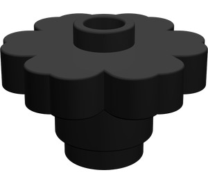LEGO Black Flower 2 x 2 with Open Stud (4728)