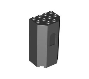 LEGO Black French Tower 4 x 3 x 6 (30246)