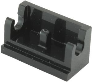 LEGO Black Hinge 1 x 2 Base (3937)