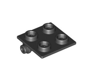 LEGO Black Hinge 2 x 2 Top (6134)
