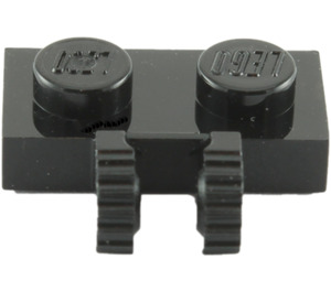 LEGO Black Hinge Plate 1 x 2 Locking with Dual Stub (50340 / 60471)