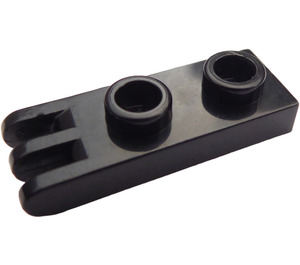 LEGO Black Hinge Plate 1 x 2 with 3 fingers (4275)