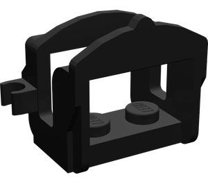 LEGO Black Horse Saddle with One Clip (4491)