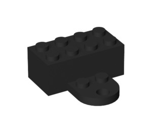 LEGO Black Magnet Brick 2 x 4 with Plate (90754)