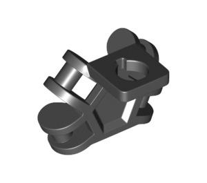 LEGO Black Minifigure Back Plate with 3,2 Shaft (36452)