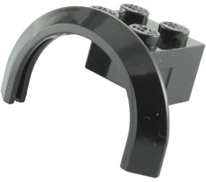 LEGO Black Mudguard with Round Arch 4 x 2 1/2 x 2 (50745)