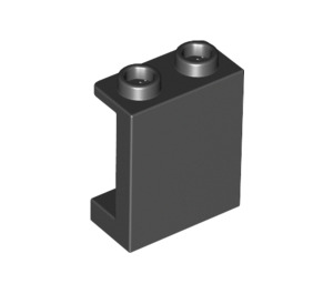 LEGO Black Panel 1 x 2 x 2 with Side Supports, Hollow Studs (87552)