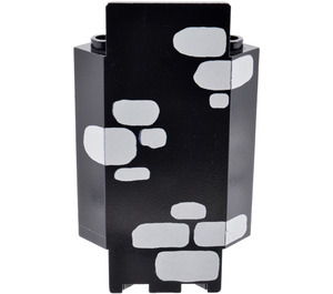 LEGO Black Panel Wall 3 x 3 x 6 Corner with Decoration with Bottom Indentations