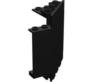LEGO Black Panel Wall 6 x 6 x 6 Corner (6055)
