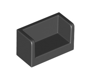 LEGO Black Panel with Closed Corners 1 x 2 x 1 (23969 / 35391)