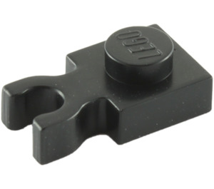 LEGO Black Plate 1 x 1 with Vertical Clip (Thick 'U' Clip) (4085 / 60897)