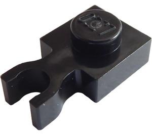 LEGO Black Plate 1 x 1 with Vertical Clip (Thin 'U' Clip) (4085 / 60897)