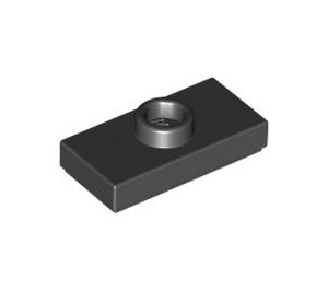 LEGO Black Plate 1 x 2 with 1 Stud (with Groove) (3794)