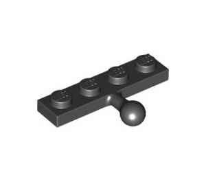 LEGO Black Plate 1 x 4 with Towball (3184)