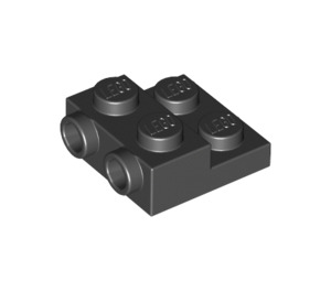 LEGO Black Plate 2 x 2 x 2/3 with 2 Studs on Side (99206)