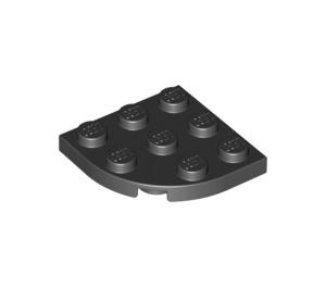 LEGO Black Plate 3 x 3 Corner Round (30357)
