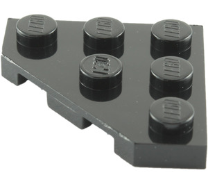 LEGO Black Plate 3 x 3 without Corner (2450)