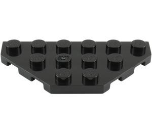 LEGO Black Plate 3 x 6 with 45º Corners (2419)