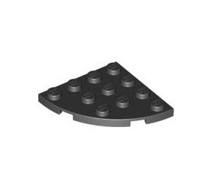 LEGO Noir assiette 4 x 4 Rond Coin (30565)