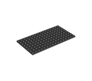 LEGO Black Plate 8 x 16 (92438)