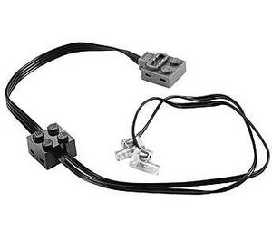 LEGO Black Power Functions Lights White (16516 / 61930)
