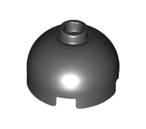 LEGO Black Round Brick 2 x 2 with Dome Top (Blocked Open Stud with Bottom Axle Holder x Shape + Orientation) (30367)