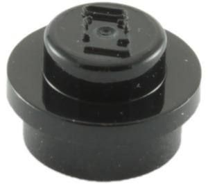 LEGO Black Round Plate 1 x 1 (6141)
