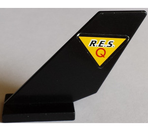 LEGO Black Shuttle Tail 2 x 6 x 4 with Sticker from Set 6462