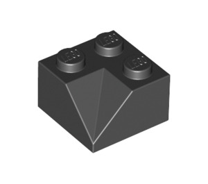 LEGO Black Slope 2 x 2 (45°) with Double Concave (Rough Surface) (3046)
