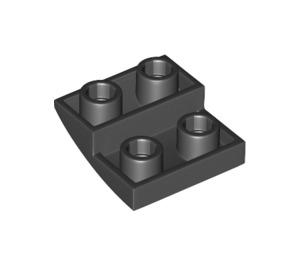 LEGO Black Slope 2 x 2 Curved Inverted (32803)