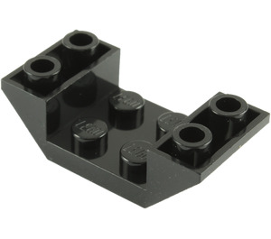 LEGO Black Slope 2 x 4 (45°) Double Inverted with Open Center (4871)