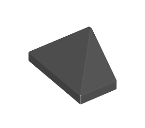 LEGO Black Slope 45° 1 x 2 Triple with Smooth Surface (3048)