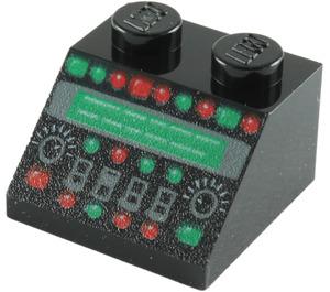 LEGO Black Slope 45° 2 x 2 with Control Panel Decoration (86665)