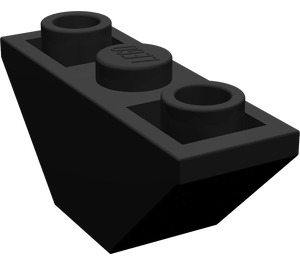 LEGO Black Slope 45° 3 x 1 Inverted Double (2341)