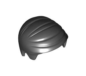 LEGO Black Smooth Hair Combed Sideways (99930)