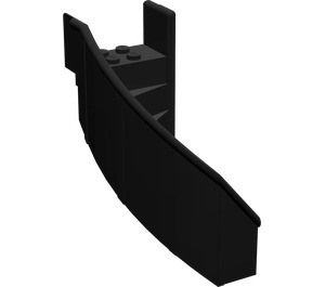LEGO Black Staircase 6 x 6 x 7.333 Enclosed Curved (2046)