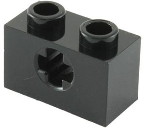 LEGO Black Technic Brick 1 x 2 with Axle Hole (Old Style with '+' Opening) (31493 / 32064)