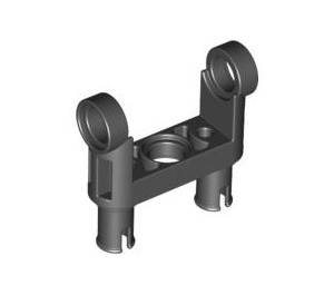 LEGO Black Technic Connector Toggle Joint Smooth Double with 2 Pins (48496 / 65746)