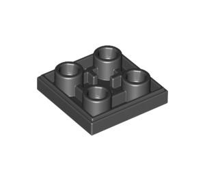 LEGO Black Tile 2 x 2 Inverted (11203)